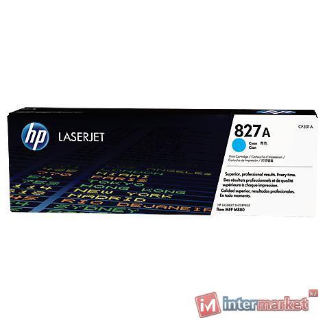 Голубой лазерный картридж HP 827A LaserJet (CF301A)