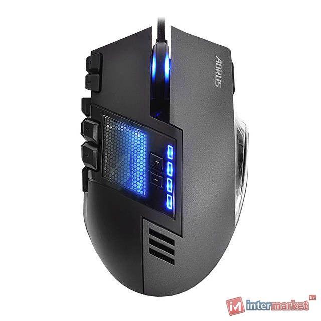 Мышь Gigabyte Aorus Thunder M7, Black-Gray, USB