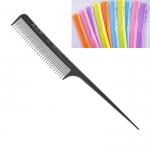 """Расчёска """"ES-423"""", для начёса со смешанными зубьями, и пластмассовым хвостиком, нейлон. (цветные)"""